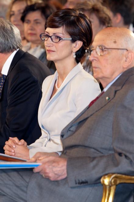 Giorgio Napolitano e Mariastella Gelmini