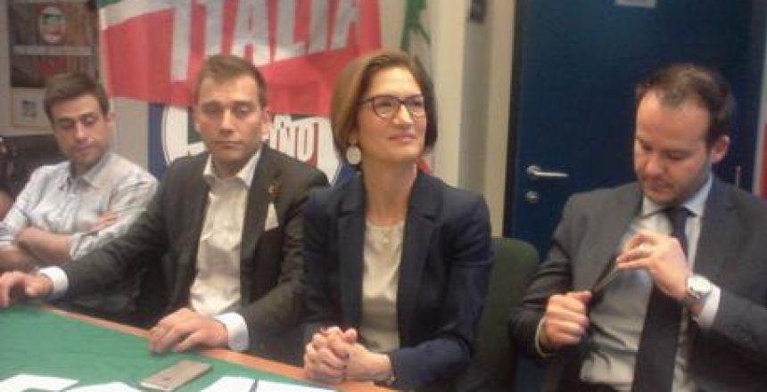 Trento, la parlamentare di Forza Italia Mariastella Gelmini concude campagna elettorale del centro destra